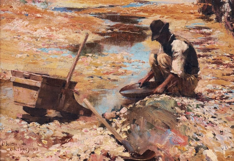 Walter Withers Panning for Gold 1893 crop
